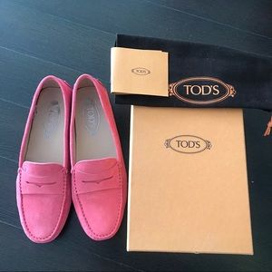 Tods Gommino Suede Leather Loafers